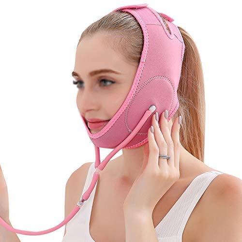 CY Schlankheitsmaske, Gesichtsliftinggürtel, Gesichtsbinde, Natürliche V-Wange, Kinnlifting, Straffende Werkzeuge (Color : A)