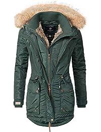 Marikoo Grinsekatze Abrigo de Invierno Parka para Mujer 7 Colores XS-XXL