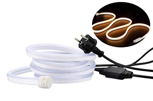 LED Lichtschlauch 10m   Lichtband für Außen  Lichtschlauch diffuses Licht  LED Lichtband dimmbar  Wasserdicht nach IP68