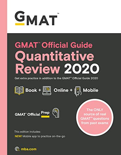 GMAT Official Guide Quantitative Review 2020: Book + Online