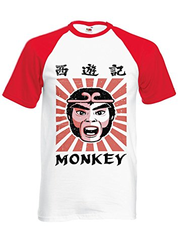 Monkey Magic Baseball T-shirt in 5 colours