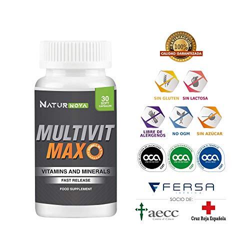 Complejo Multivitamínico con Vitaminas y Minerales A, B, B6, B12, B9, C,...