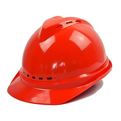 XX XiaoXIAO Schutzhelm - Sommer Baustelle Fabrik Belüftung Helm Baustelle Führung Sonnenschutz Sonnenschirm Hut Elektriker Hut Schutzhelm (Color : Red)