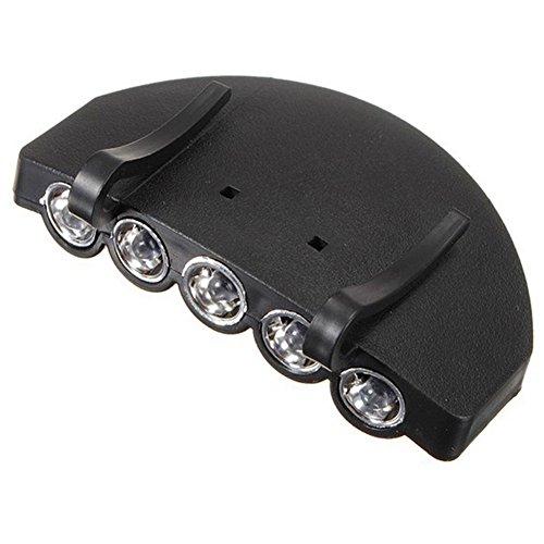 5LED Clip auf Gap Lampe, Outdoor Hat Scheinwerfer Taschenlampe Taschenlampe für Angeln Camping Jagd (Baby Gap Halloween)