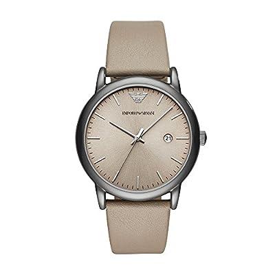 Emporio Armani Men's Analogue Quartz Watch with Leather Strap AR11116