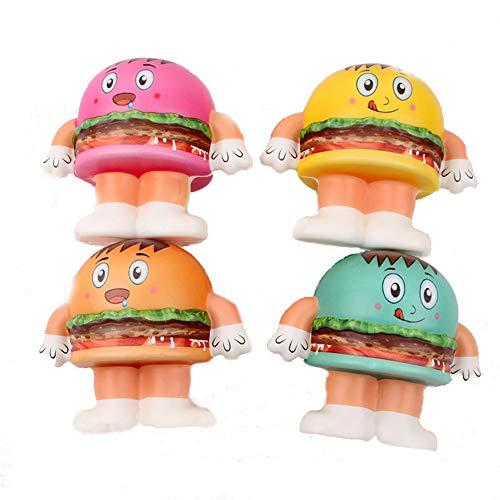EDtara Happy Birthday,Anti-Stress Squeeze Spielzeug,Squishy Spielzeug, Kawaii Party Geschenke für Kinder, Squishy PU Simulation Hamburgerbrot Dekompressionsspielzeug mit zufälliger Farbe