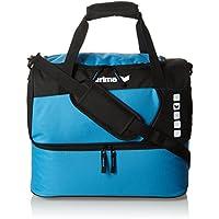 Erima GmbH 723573 Bolsa de Deporte con Compartimento Inferior, Curacao/Negro, M