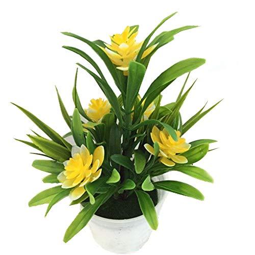 BeneU Künstliche Pflanzen 5 kleine Lotusblumen Dekorative Bonsai simulierten Anlage Dekorative Bonsai Kunststoff Blumen für Home küche Garten Badezimmer Fensterbank Ornament Grün Dekoration