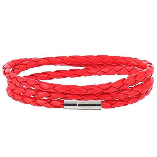 Formen Kostüm Herr Maker - Modisches Armband aus 100% echtem Leder, für Herren und Damen, magnetische Verschlüsse, Charm-Armbänder für Männer und Frauen, metall, A2, 60 cm