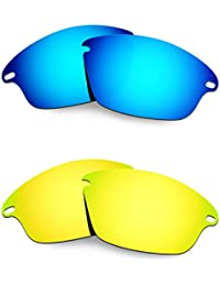 HKUCO Plus Mens Replacement Lenses For Oakley Fast Jacket XL - 2 pair