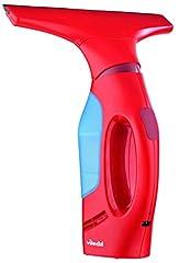 Idea Regalo - Vileda Windomatic Aspiragocce Elettrico senza Fili, Asciuga Vetri Doccia, per Pulire Vetri, Finestre e Specchi, Plastica, Rosso, 640 g