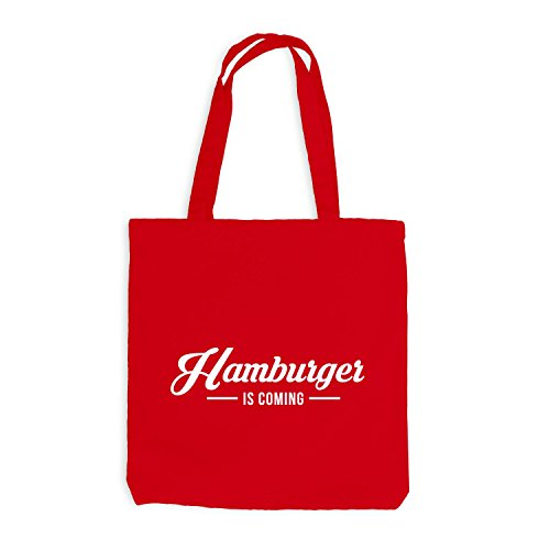 Jutebeutel - Sta Arrivando Lhamburger - Hamburg Hh Style Rot
