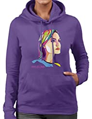 Geometric Celebrity Angelina Jolie Women's Hooded Sweatshirt