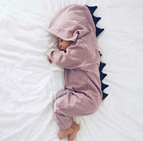 Süße Dinosaurier Kostüme Neugeborenes Baby Jungen Mädchen Unisex Strampler Mit Kapuze Langarm Onesies Overall Outfits für (Neugeborenen Dinosaurier Kostüm)