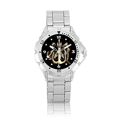 ZOOMEVERYDAY® ( M305 ) Religion - Allah Muslim Rotating Bezel Stainless Steel Wrist Watch