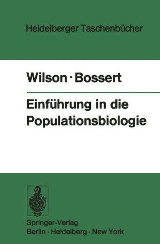 Einführung in die Populationsbiologie (Heidelberger Taschenbücher, Band 133)