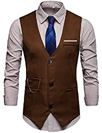 buy online 35fdb c24dc Mode Veste Gilet Hommes Costume sans Manches Business Casual Grande Taille