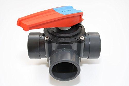 Cepex Vanne PVC Plus voies Valve 3voies 50/63mm 3x Manchon adhésives