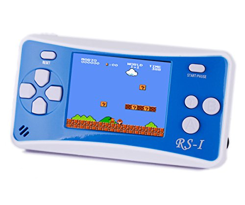 Handheld Game Console, QINGSHE 2.5'' LCD Classic 8 Bit Retro Portable Video Game with 152 Games Built-in Game Player,Best Birthday Christmas Gifts for Children- Blue+White