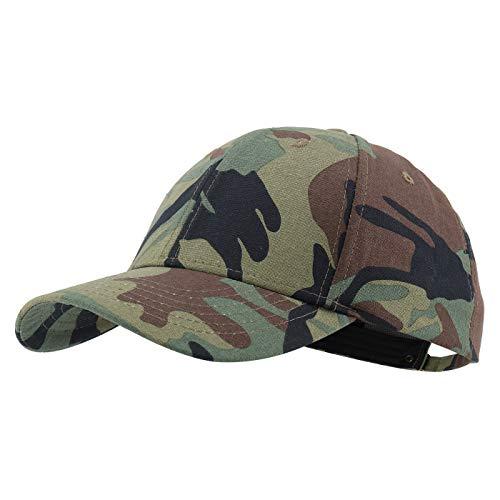 Gisdanchz Army Cap Camo Cap Camouflage Damen Basecap Damen Baseball Cap Herren Mütze Damen Cappy Frauen Kappe Herren Baseballkappe Grün Camo Military Cap