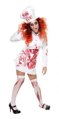 Kitchen Blutige Köchin Kostüm, Kleid, Schürze und Mütze, One Size, 35864 (Blutige Blutige Halloween Kostüm Ideen)
