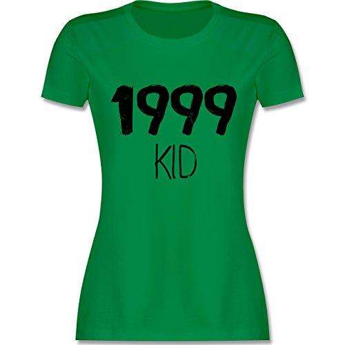 Shirtracer Geburtstag - 1999 Kid - Damen T-Shirt Rundhals Grün