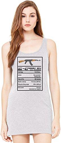 AK 47 Specifications Bella Basic ärmellose Tunika Sleeveless Tunic Tank Dress For Women| 100% Premium Cotton| Small