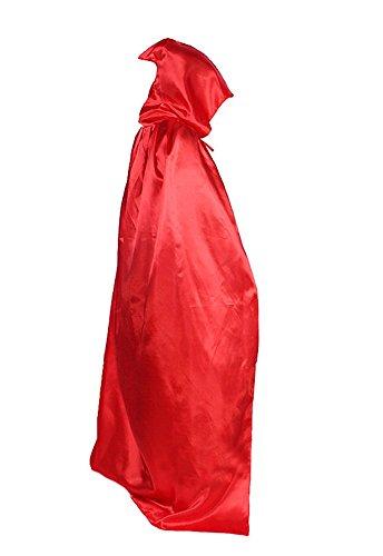 Umhang Kostüm Cape mit Kapuze für Halloween Karneval -