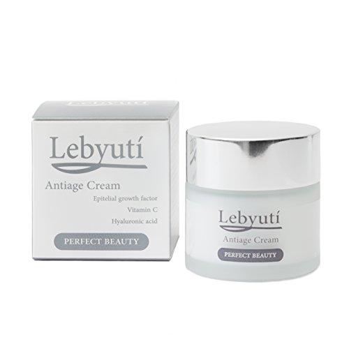 Crema antiarrugas Lebyutí 50mL Serum Ácido Hialurónico Puro, Vitamina C encapsulada que no se oxida y Factores de Crecimiento Epitelial. Efecto tensor. Regenera y rejuvenece tu piel espectacularmente