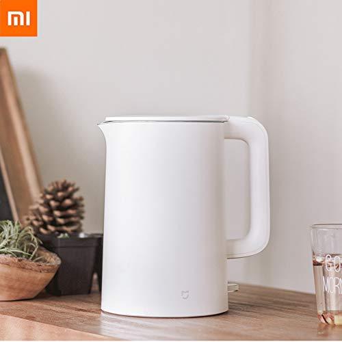 Guangmaoxin per Xiaomi Mijia Smart Bollitore Elettrico in Acciaio Inox, Bollitore Elettrico Funzione di Riscaldamento, capacità 1.5L 1800W, Bianco
