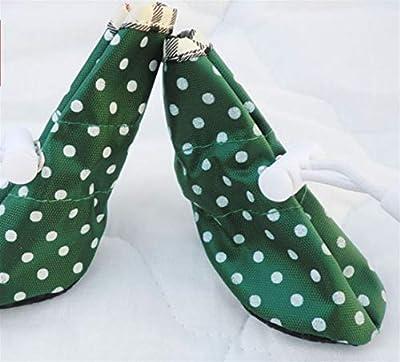 Pet shoes Polka Dot gedruckt Hund Schuhe wasserdicht rutschfeste Stiefel Hallenschuhe Freizeitschuhe Huihuger