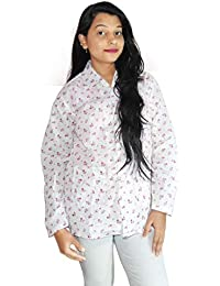 Style Up Suncoat- Dust Pollution Protection Driving Traveling Coat Long Sleeves Cotton Jacket for Women (Important Note : Print Design May Vary, As per Stock) SunCoat06