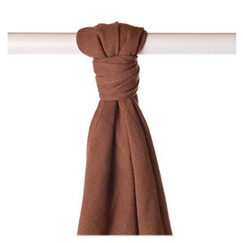 XKKO bmb09 0023 a Couche Serviettes à langer Bambou, allaiter, comme tapis ou couverture légère, couches 90 x 100 cm, marron