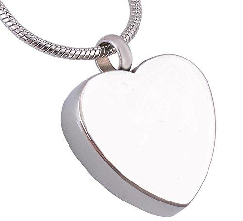 OTGOOT Urne Halskette Asche Halskette für Sarg Anhänger Edelstahl glänzend Urne Box Anhänger (kann graviert Werden) 20 mm × 35 mm