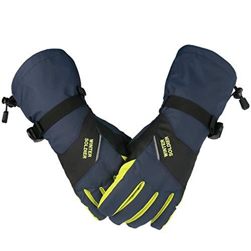 Zilee uomo donna guanti con touch screen - guanti impermeabili termici invernali, guanti caldi termici esterni per moto mtb palestra bici ciclismo alpinismo scooter camping e outdoor