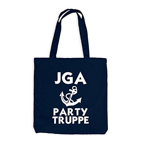 Jutebeutel - Junggesellenabschied - ANKER - Party Truppe - JGA Style Navy