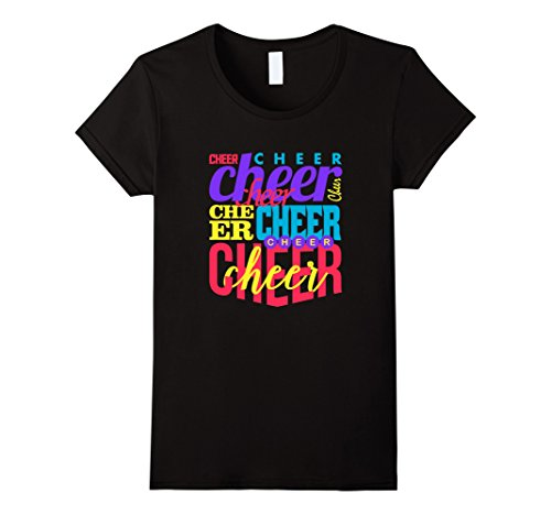 Cheer Cheerleading Cheerleader Collage Tee Vision T-Shirt Damen, Größe M Schwarz