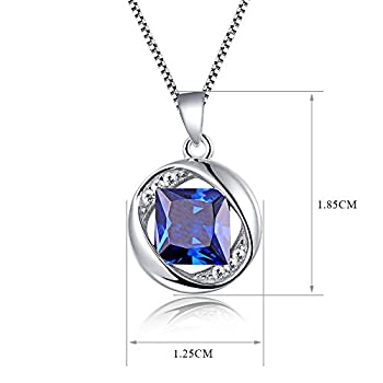 "Aurora Tears Jewellery September Birthstone Sapphire Pendant 925 Sterling Silver Necklace 18"" Dp0029s 5"