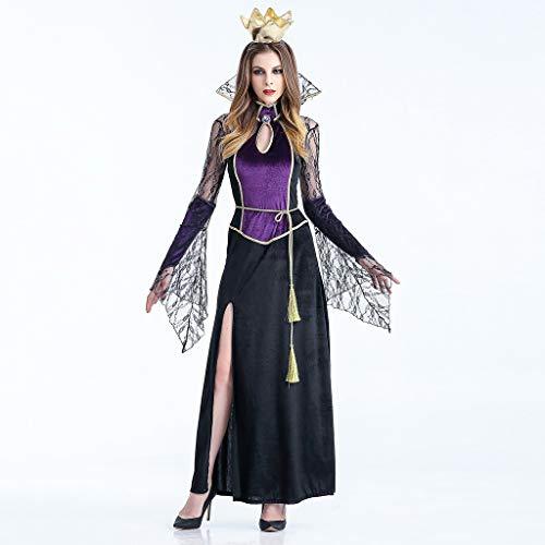 Immortals Kostüm - FANGDA Halloween Cosplay Kostüm für Erwachsene Halloween Kleider Vampire Witch Queen Kleid Party Dance Party Uniform,A,M