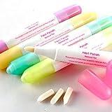 5x Penna Solvente per Smalto Unghie correzione pittura 3Tete cotone fornito