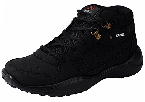 Chevit Men's Stylish 416 Black Tracking Casual Running Shoes (Joggers & Sports Shoes) 416-8M