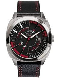 Bernex EV-219-001 - Reloj analógico para caballero de cuero negro