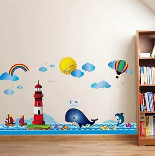 alloon Wandaufkleber für Kinderzimmer Blue Sky Kinder Wandtattoo Kinderzimmer Schlafzimmer Dekor Poster Wandbild ()