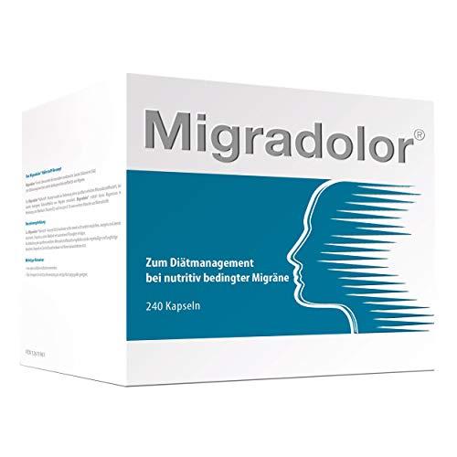 Migradolor Classic - Die natürliche Hilfe bei Migräne & Kopfschmerzen - Nicht-Medikamentöse Migräne-Prophylaxe (240 Kapseln - Vorteilspackung)