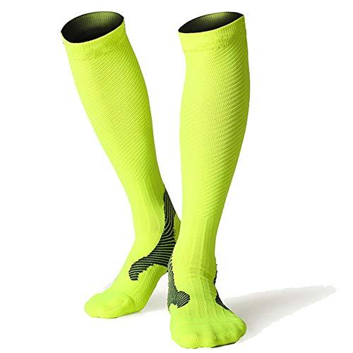 VIWIV Komprimierte Laufsocken, Qualitäts-Männer/Frauen Professionelle Marathon-Sport-Socken Und Strümpfe, Schnell Trocknend Fahrrad Socken Fitness Strümpfe,Grün