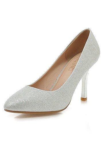 WSS 2016 Chaussures Femme-Habillé / Décontracté / Soirée & Evénement-Rouge / Argent / Or-Talon Aiguille-Talons / Bout Pointu-Talons-Similicuir golden-us7.5 / eu38 / uk5.5 / cn38