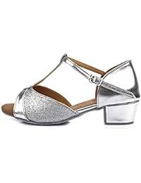 HROYL Zapatos de baile/Zapatos latinos de satín mujeres ES-305