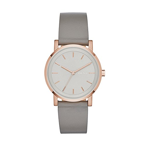 DKNY Damen-Armbanduhr SOHO Analog Quarz Leder NY2341 (Damen Dkny Uhren Leder)