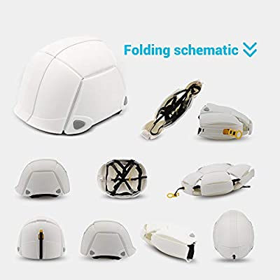 Renogy Bike Helmet, Foldable Adjustable 500g Portable for Motorcycle Bicycle Horse-riding Emergency for Men Women by Renogy