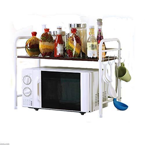 Porta spezie liuyu cucina home rack da cucina in acciaio al carbonio a terra home condimento forno a microonde a due piani rack di stoccaggio 3 colori opzionale 61 cm * 33 cm * 48 cm (colore : brown)